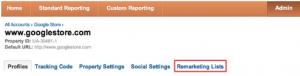 Remarketing in Google Analytics